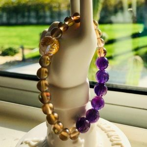 🔮✨Amethyst and Mermaid 🧜♀️  Glass Bracelet